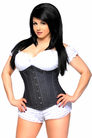 Top Drawer Denim Underbust Corset - IN STOCK