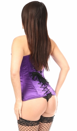 Top Drawer Purple Sequin Steel Boned Corset
