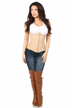 Lavish Beige Cotton Underbust Corset - IN STOCK