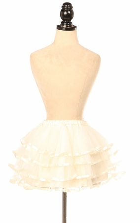 Ivory Ribbon Tutu - IN STOCK
