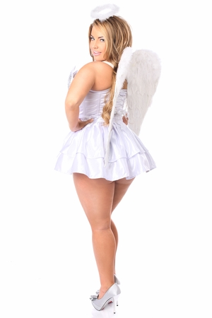 Top Drawer 4 PC Sequin Innocent Angel Corset Costume