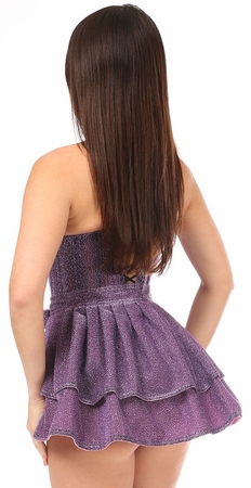 Lavish Lt Purple Glitter Corset & Skirt Set