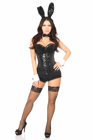 Top Drawer 6 PC Sequin Bunny Corset Costume