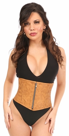 Top Drawer Faux Leather Steel Boned Mini Cincher