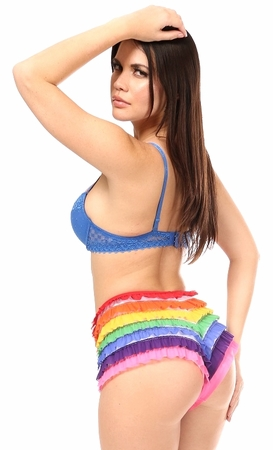Rainbow Mesh Ruffle Panty - IN STOCK
