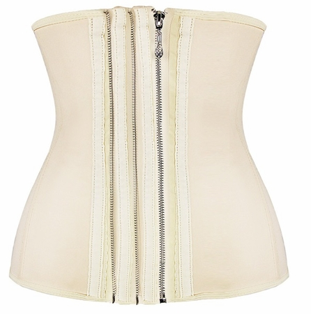 Smooth Zipper Latex Steel Boned Waist Training Corset
