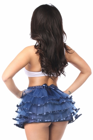 Navy Blue Ribbon Tutu - IN STOCK