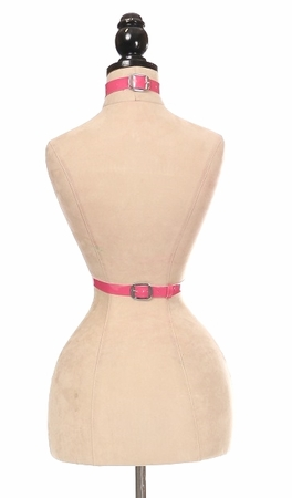 Pink Patent PVC Body Harness - IN STOCK