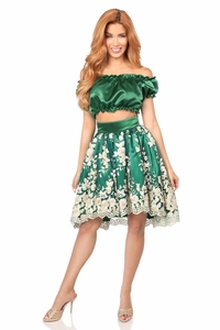 Satin Peasant Top & Skirt