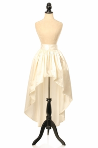Ivory Satin High Low Skirt