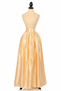 Gold Satin Long Skirt