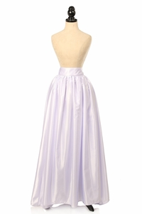 White Satin Long Skirt