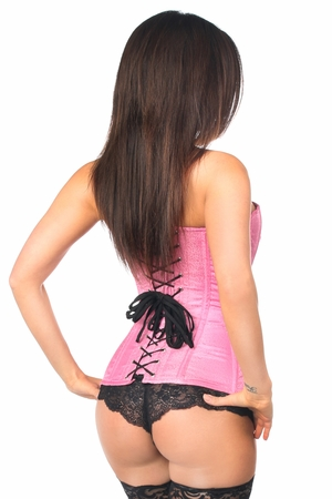 Lavish Pink Brocade Corset - IN STOCK