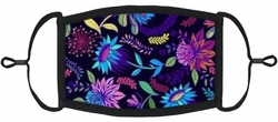 Vibrant Floral Fabric Face Mask