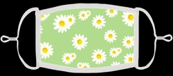 Green w/Daisies Fabric Face Mask