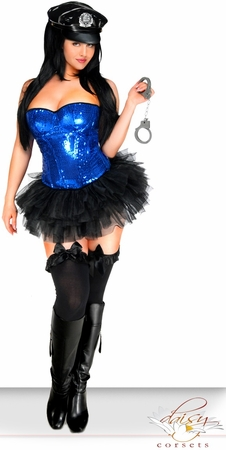 4 PC Pin-Up Cop Costume
