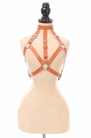 Camel Vegan Leather Body Harness - IN STOCK