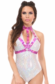 Fuchsia Holo Body Harness - IN STOCK
