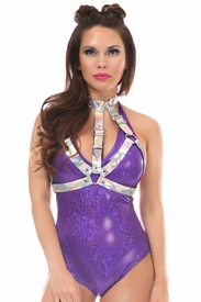 Silver Holo Body Harness - IN STOCK