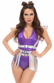 2 PC Silver Holo Harness Set - IN STOCK