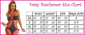 Daisy Beachwear Size Chart (ABOVE)