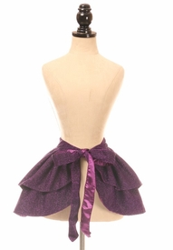 Purple Glitter Wrap Skirt - IN STOCK