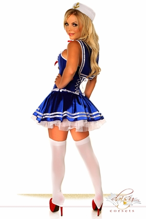4 PC Sexy First Mate Sailor Costume