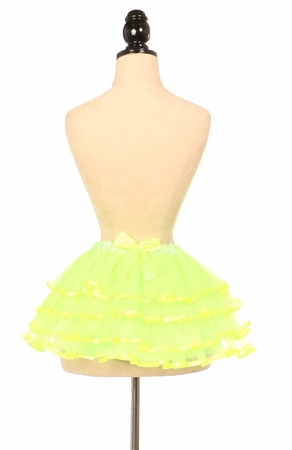 Neon Green Ribbon Tutu - IN STOCK