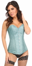 Top Drawer Sparkling Waters Glitter Steel Boned Overbust Corset