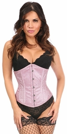 Top Drawer Posh Pink Glitter Steel Boned Underbust Corset