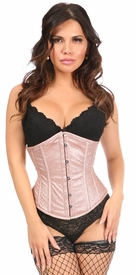 Top Drawer Rose Gold Glitter Steel Boned Underbust Corset