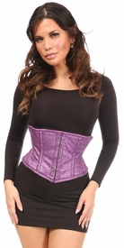 Top Drawer Grape Glitz Glitter Steel Boned Mini Cincher