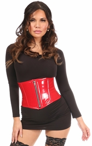 Top Drawer Red Patent Steel Boned Mini Cincher - IN STOCK