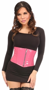 Top Drawer Pink Patent Steel Boned Mini Cincher - IN STOCK