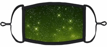 Green Galaxy Fabric Face Mask