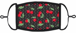 Pin-Up Cherry Fabric Face Mask
