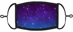 YOUTH SIZE - Blue Galaxy Fabric Face Mask