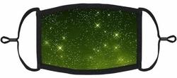 YOUTH SIZE - Green Galaxy Fabric Face Mask