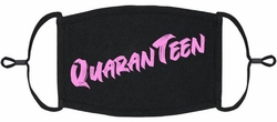 YOUTH SIZE - Pink QuaranTeen Fabric Face Mask