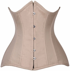 Lavish CURVY Tan Cotton Under Bust Corset