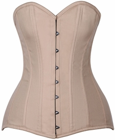 Lavish CURVY Tan Cotton Over Bust Corset