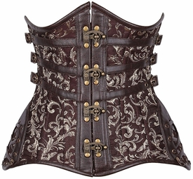 Top Drawer CURVY Steampunk Steel Double Boned Under Bust Corset