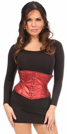 Top Drawer Cherry Bomb Glitter Steel Boned Mini Cincher