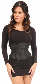 Top Drawer Black Glitter Steel Boned Mini Cincher