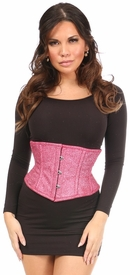 Top Drawer Fierce Fuchsia Glitter Steel Boned Mini Cincher