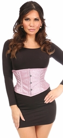 Top Drawer Posh Pink Glitter Steel Boned Mini Cincher