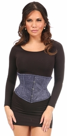Top Drawer Twilight Sky Glitter Steel Boned Mini Cincher