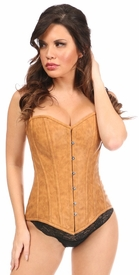 Top Drawer Faux Leather Steel Boned Overbust Corset