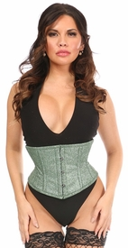 Top Drawer Lucky Green Glitter Steel Boned Mini Cincher
