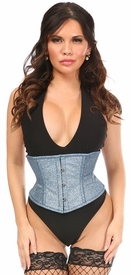 Top Drawer Sapphire Shimmer Glitter Steel Boned Mini Cincher